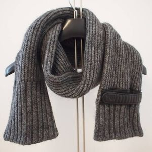Y-3 Yamamoto Mohair Wool & Leather Scarf